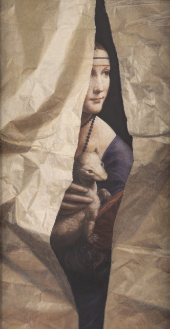 , 'Leonardo Lady with Torn Paper,' 2010, Nancy Hoffman Gallery