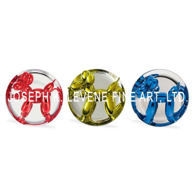 , 'Jeff Koons Red, Yellow & Blue Balloon Dog Multiples ,' 1995, 2002, 2015, Joseph K. Levene Fine Art, Ltd.
