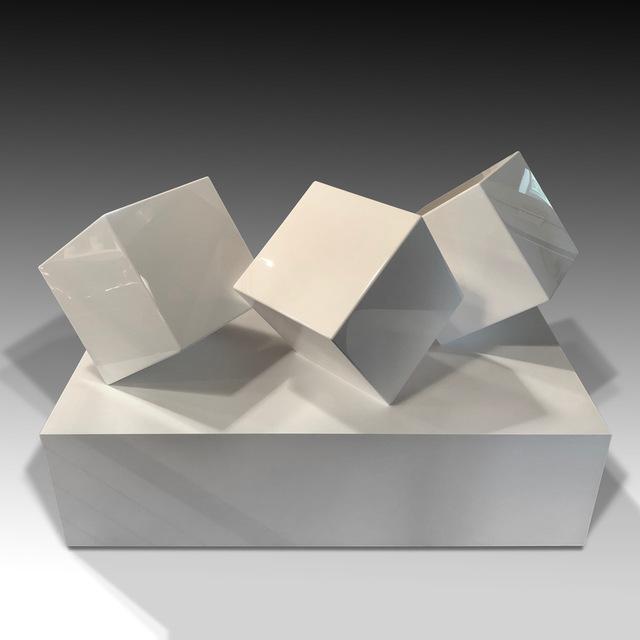 Jonathan Prince, 'Tumble (Shadow Box)', 2018, Sculpture, Wood, aluminum and automotive paint, Lawrence Fine Art
