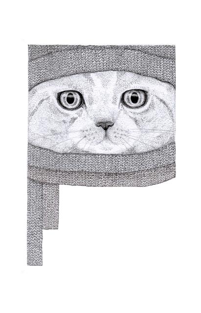 , 'Cat in the Hat,' 2014, Rebecca Hossack Art Gallery
