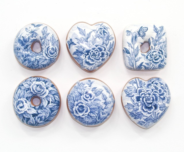 Jae Yong Kim, 'Blue and White Donuts (6)', 2019, Lyons Wier Gallery