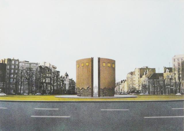 Arnaldo Pomodoro, 'Gateway to Europe', 1980, Print, Numbered lithographic print on paper, La Maison de la Petite Sara