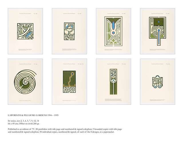 Jan Vercruysse, 'Labyrinth & Pleasure Gardens II, Portfolio', 1994 -2001, Vistamare/Vistamarestudio