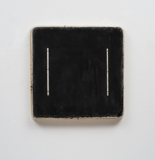 , 'Black Square with Eight Lines,' 2016, Barry Whistler Gallery