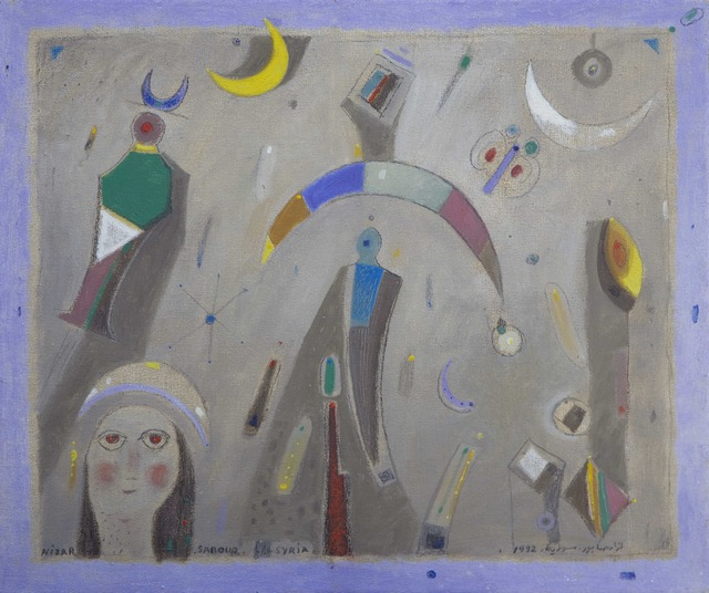 Nizar Sabour, 'Syria', 1992, Painting, Mixed Media, Artscoops