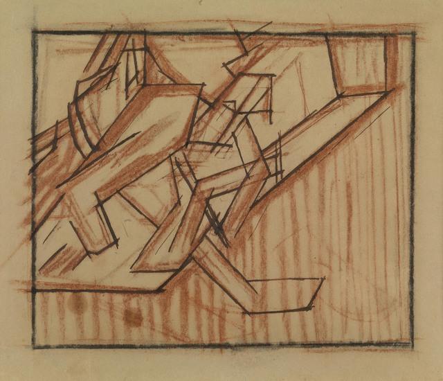 , 'Vorticist study (double sided),' ca. 1914, Waterhouse & Dodd