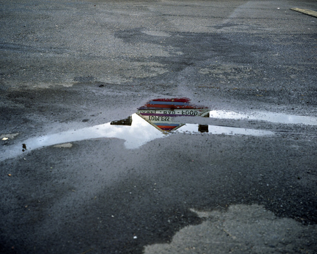 , 'Topless bar reflected in puddle, Doylestown, Pennsylvania,' 2010, Yancey Richardson Gallery