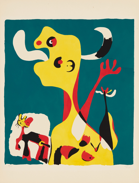 Joan Miró, 'Femme et chien devant la lune (Woman and Dog in Front of the Moon)', 1936, Phillips