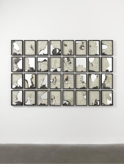 , 'Burnt Scores,' 2011, Gagosian