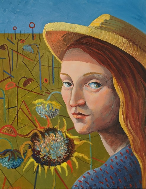 , 'Girl Wearing an Artist's Hat,' 2019, Kittoe Contemporary