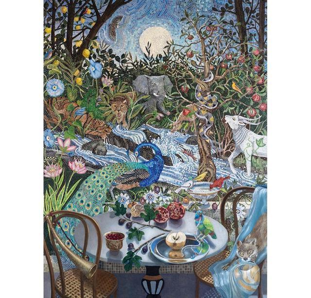 Barbara Kassel, 'Nightfall in the Garden', Painting, Clark Gallery
