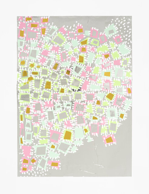 Denise Treizman, 'Untitled', 2021, Drawing, Collage or other Work on Paper, Duct Tape on Paper, PROTO Gallery