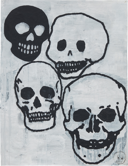 Donald Baechler, 'Crowd (Skulls) #2', 2006, Phillips