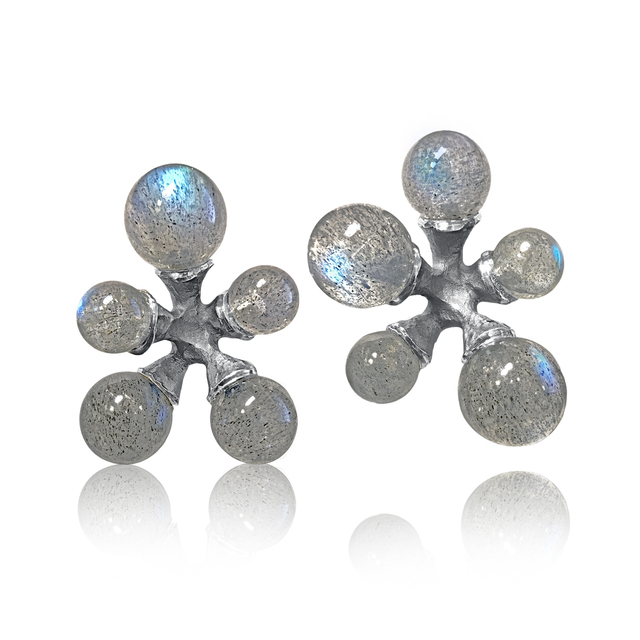 , 'Labradorite Micro Jacks Stud Earrings,' 2016, Szor Collections