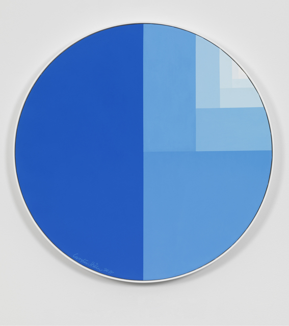 , 'Divisions Circle (Cobalt-blue Surface),' 2017, Gagosian