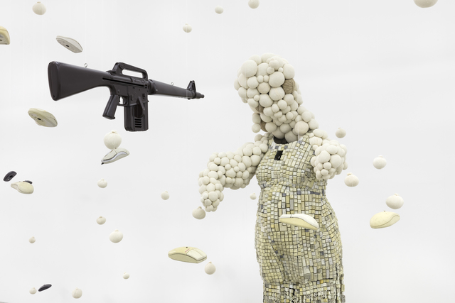 Maurice Mbikayi, 'Baby Shower with a Gun', 2019, Gallery MOMO