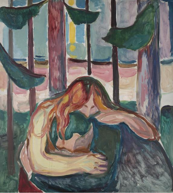 Edvard Munch, 'Vampire in the Forest', 1916-1918, Museo Thyssen-Bornemisza