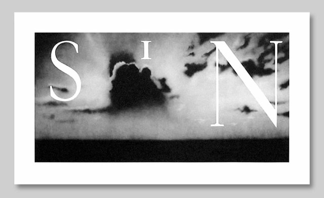 Ed Ruscha, 'Sin-Without', 2002, Print, Hand-Pulled Lithograph on Paper, Approximately Blue