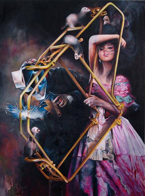 , 'On fait tout ce qu'on peut,' 2012, Wide Painting
