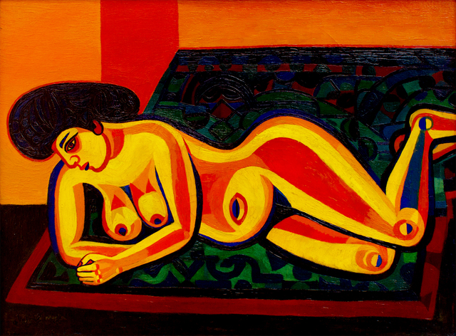 , 'Liegender Akt (Exotic Nude),' 1952, Hagemeier