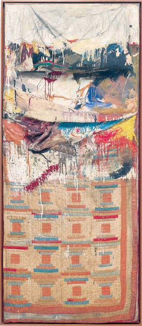 Robert Rauschenberg, 'Bed', 1955, Combine: oil and pencil on pillow, quilt, and sheet, mounted on wood support, Robert Rauschenberg Foundation