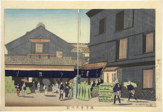 , 'View of Downtown Horidome ,' ca. 1879-80, Scholten Japanese Art