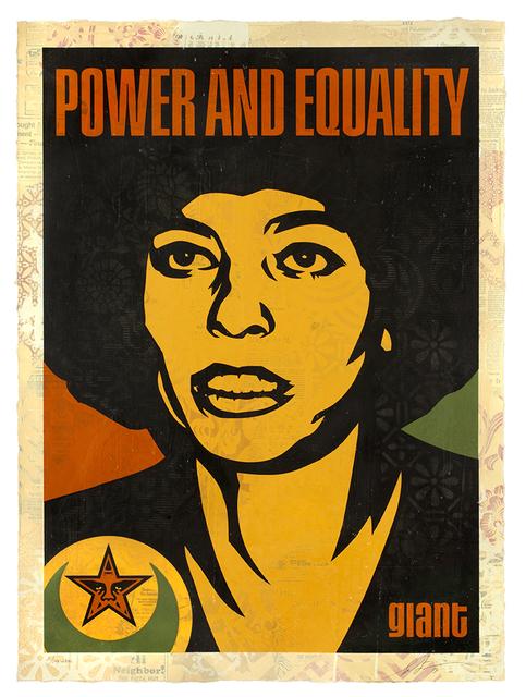 Shepard Fairey, 'Angela Power and Equality ', 2019, Samuel Owen Gallery