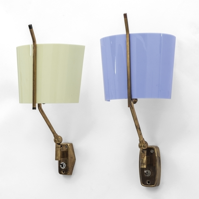 Stilnovo, 'A pair of wall lamps  2095 model', 1960's, Aste Boetto