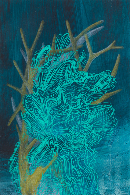 , 'Small Coral Drawing 22,' 2018, Childs Gallery