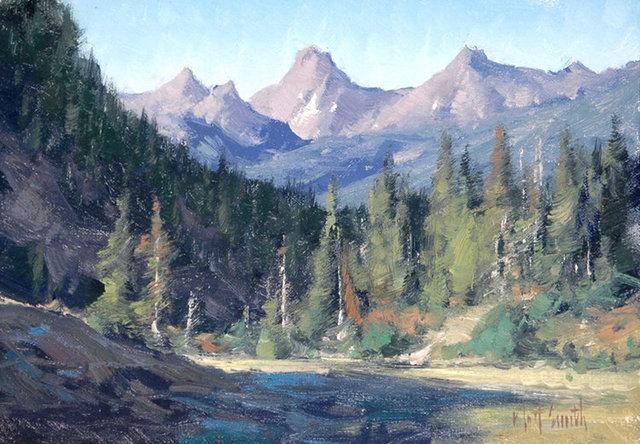 "Matt Smith, '""Border Peaks""', Painting, Oil, Maxwell Alexander Gallery"
