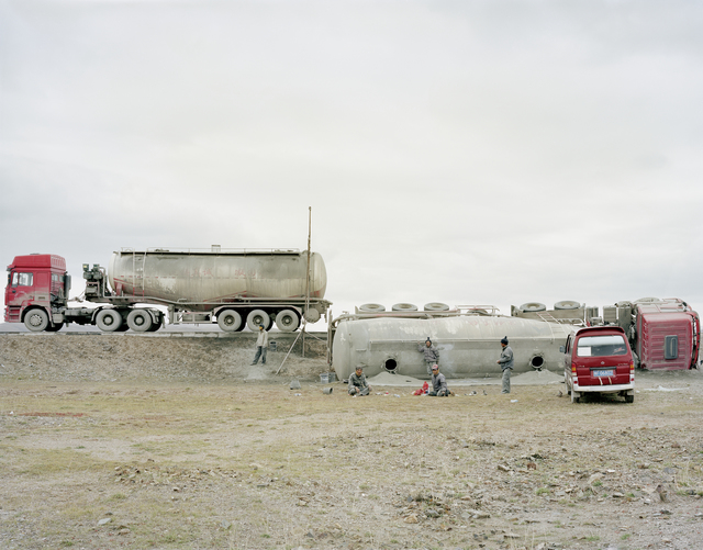 , 'An Overturned Cement Truck, Qinghai,' 2011, Beetles + Huxley