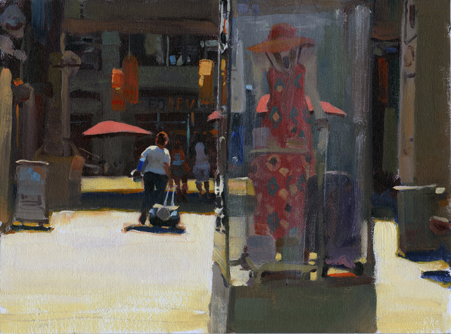 Kim English, 'Downtown Fashions', 2021, Painting, Oil, Abend Gallery
