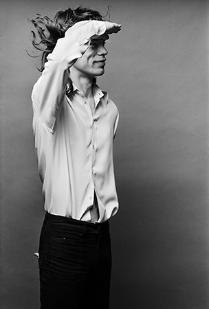 "Norman Seeff, 'Mick Jagger, ""Mick Saluting""', 1972, Fahey/Klein Gallery"