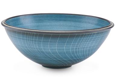 Fine large striped bowl, Claremont, CA