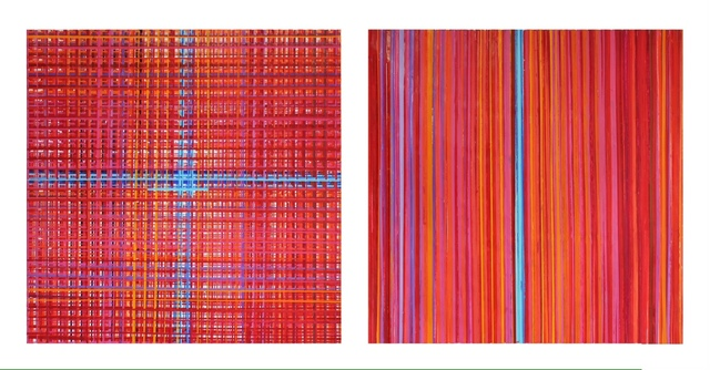, 'Study in red with blue coordinates,' 2014, Galeria Oscar Cruz
