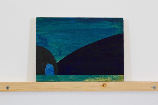 , 'Cave Painting (Blue Hill),' 2016, Nina Johnson