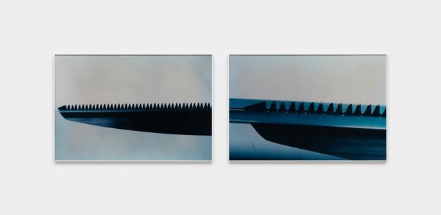Iole de Freitas, 'Série Faca na água', 1982, Photography, Negativo cor, impressão em papel fotográfico, Galeria Raquel Arnaud
