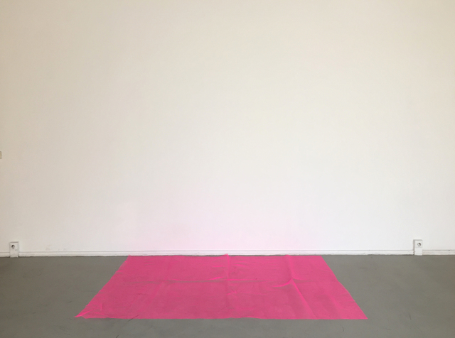, 'Red cloth floor to wall,' 2016, annex14