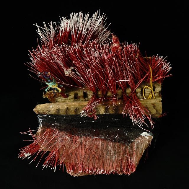 , 'Red Broom,' 2017, Osceola Gallery