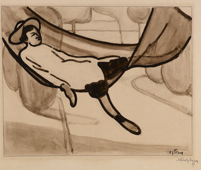 Albert Gleizes, 'Homme dans un Hamac [Man in a Hammock],' 1901, ARS/Art Resource