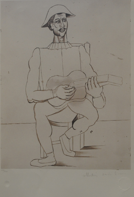 Pablo Picasso, 'Alrequin Moustachu a la Guitare', 1979-1982, Golden Eagle Art Gallery