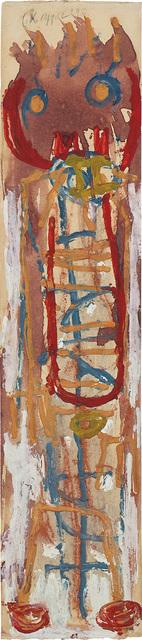 Karel Appel, 'Laddermannetje', 1948, Painting, Gouache on paper, Phillips