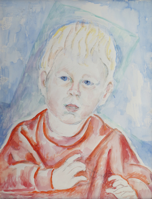 Marie Vorobieff Marevna, 'Young boy in red top, head and shoulders', c.1953, Roseberys
