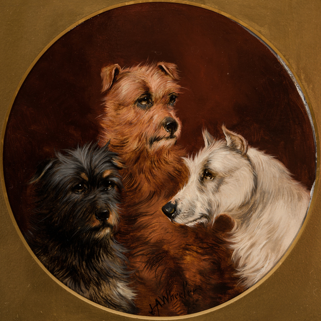 , 'Three Terriers,' 19th Century, Cross Gate Gallery