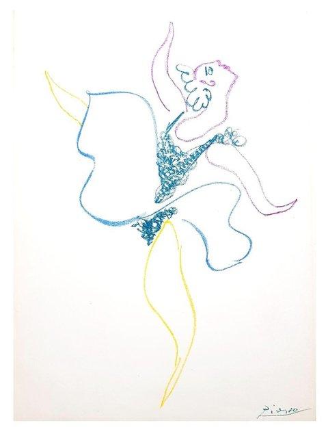 Pablo Picasso, 'Pablo Picasso - The Ballet Dancer - Original Lithograph', 1954, Galerie Philia