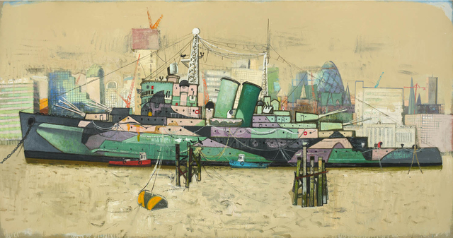 , 'Battleship at Rest,' 2013, John Martin Gallery