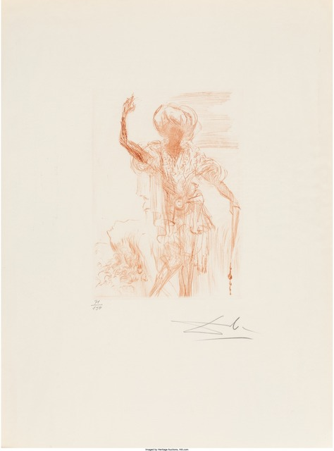 Salvador Dalí, 'Much Ado About Shakespeare', 1968, Print, Engravings in sanguine on Rives paper, with the original red portfolio, Heritage Auctions