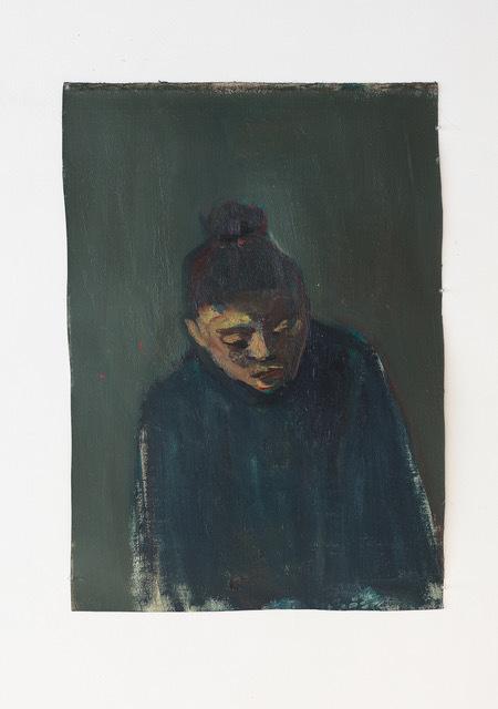 , 'Esther au pull bleu,' 2017, Eric Dupont