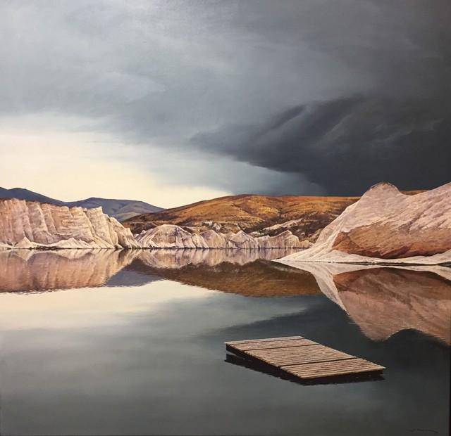 , 'Under a Brooding Sky (Blue Lake - St. Bathans, Central Otago),' 2019, Black Door Gallery