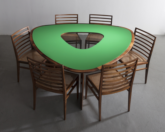 , 'Iconic triangular table,' 1960, R & Company